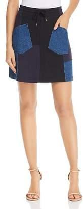 McQ Denim Patchwork Skirt