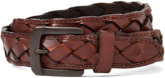 Levi's Tan Boho-Inspired Braided Leather Belt