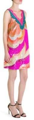 Emilio Pucci Print Sequin Sleeveless Dress