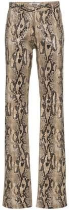 MSGM Python Print Trousers