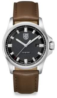 Luminox Illuminated 24/7 Collection Leather-Strap Watch