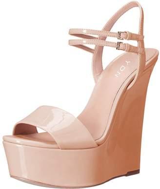 f9e910a6bc6b YDN Women Peep Toe High Heel Wedge Sandals Ankle Straps Platform Pumps  Slingback Shoes 15