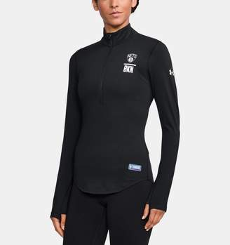 Under Armour Women's NBA Combine Authentic Charged Cotton 1/2 Zip