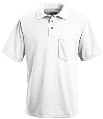 Red Kap Men's Short Sleeve Performance Knit Polyester Solid Shirt
