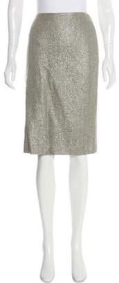 Ralph Lauren Metallic Pencil Skirt