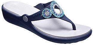 Crocs Thong Sandals - Sanrah Diamante Wedge Fli