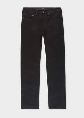 Paul Smith Men's Slim-Fit 12oz 'Super Black' Stretch-Denim Jeans
