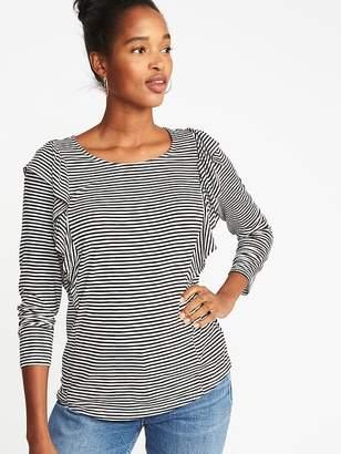 Old Navy Ruffle-Trim Slub-Knit Top for Women