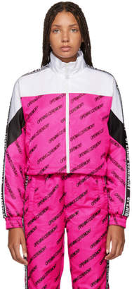 Opening Ceremony Pink and White Cropped Warm Up Jacket