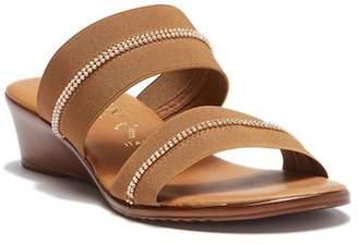 Italian Shoemakers Jewel Embellished Wedge Sandal