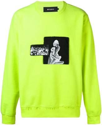 Misbhv printed patch sweatshirt