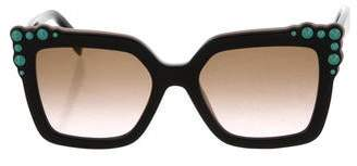Fendi Embellished Square Sunglasses w/ Tags