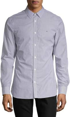 Calvin Klein Extra Fine Cotton Striped Button-Down Shirt