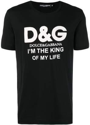 Dolce & Gabbana logo print slogan T-shirt