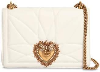 Dolce & Gabbana (ドルチェ & ガッバーナ) - DOLCE & GABBANA DEVOTION ラージ キルトレザーバッグ