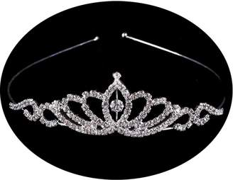 Loveshine Belle House 2018 Girls Crystal Tiara Crown For Women Girls Bridesmaid Silver