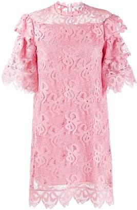VIVETTA frilled crochet short dress