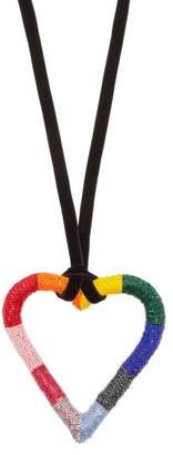 Carolina Herrera Oversized Heart Pendant Necklace - Womens - Multi