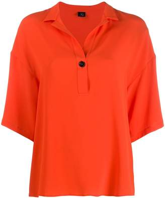 Fay contrast button boxy blouse