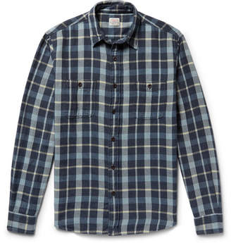 Faherty Seasons Checked Cotton-Flannel Shirt - Men - Blue