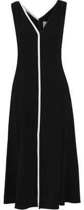Carolina Herrera Wool-Crepe Midi Dress