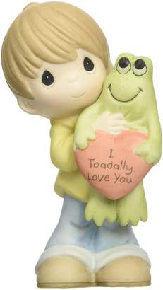Precious Moments 153003 Birthday Gift, Boy Holding Frog Porcelain Bisque Figurine