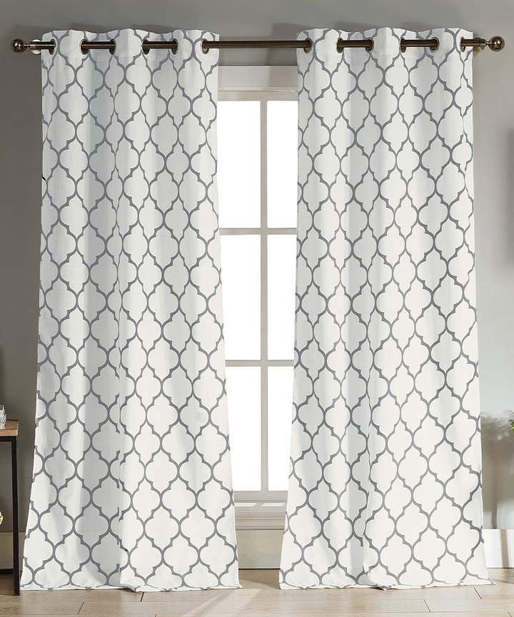 Gray Mason Curtain Panel - Set of Two
