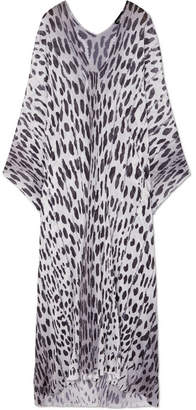 Tom Ford Printed Knitted Kaftan - Leopard print