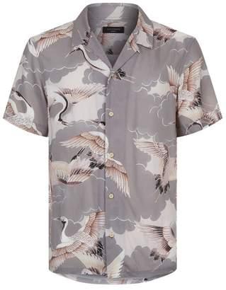 AllSaints Romaji Stork Printed Short Sleeve Shirt
