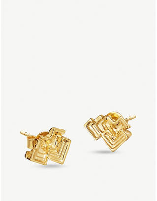 Missoma Ltd Geo Bismuth Terra 18ct gold-plated earrings