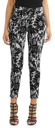 Sofia Jeans By Sofia Vergara Rosa Curvy High Waist Ikat Ankle Jean Women's (Black Print)