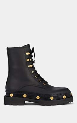 Versace Women's Logo-Detailed Leather Boots - Black