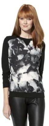 Mossimo Women's Long Sleeve Fancy Sweatshirt - Assorted Colors