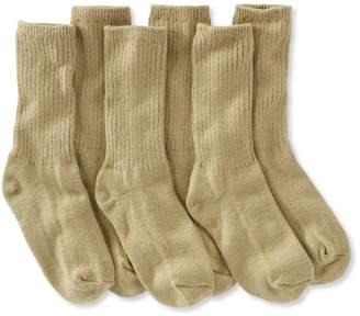 L.L. Bean L.L.Bean Cotton Crew Socks, Three-Pack