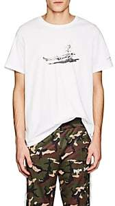 Ovadia & Sons MEN'S GRAPHIC COTTON JERSEY T-SHIRT-WHITE SIZE M