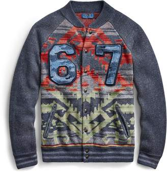 Ralph Lauren Snap-Front Baseball Sweater