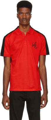 Alexander McQueen Red and Black Logo Polo
