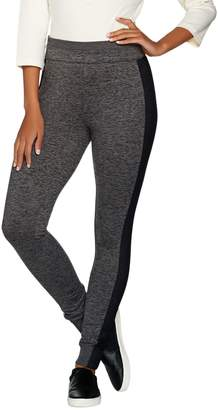 Halston H By H by Petite Space Dye Knit Leggings with Mesh Panels