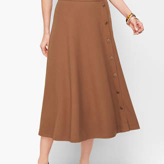 Talbots Stretch Crepe Midi Skirt