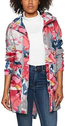Joules Women's Golightly Waterproof Dog Print Packable Rain Jacket with Hood