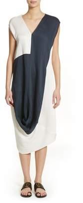 Zero Maria Cornejo Colorblock Drape Dress