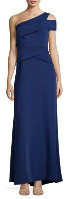 BCBGMAXAZRIA Cutout One-Shoulder Gown
