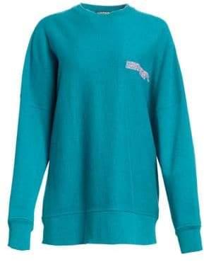 Calvin Klein Collection Women's Oversized Drop Shoulder Sweatshirt - Arcadia - Size Small