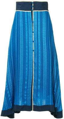 Zeus+Dione patterned asymmetric skirt