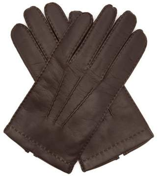 Dents Shaftesbury Touchscreen Leather Gloves - Mens - Brown