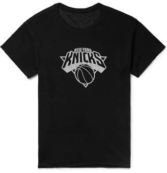 The Elder Statesman +nba New York Knicks Cashmere And Silk-Blend T-Shirt