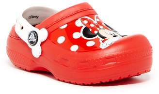 Crocs Minnie Faux Fur Lined Clog (Toddler & Little Kid)