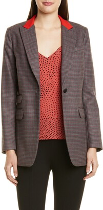 Rag & Bone Paloma Check Stretch Wool Blend Blazer