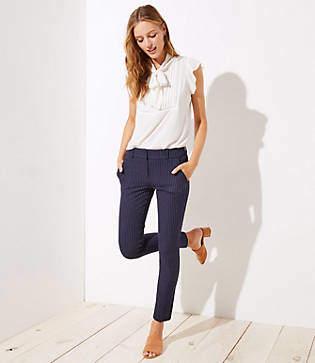 LOFT Pinstripe Skinny Pants in Marisa Fit