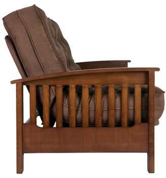 Andover Mills Massengill Wood Arm Futon and Mattress